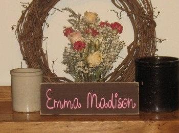 Personalized Kids Room Wood Sign Girls Name Version