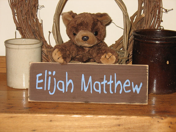 Personalized Kids Room Wood Sign Boy Name Version