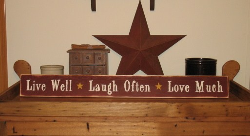 live well laugh often love much wood sign. Black Bedroom Furniture Sets. Home Design Ideas