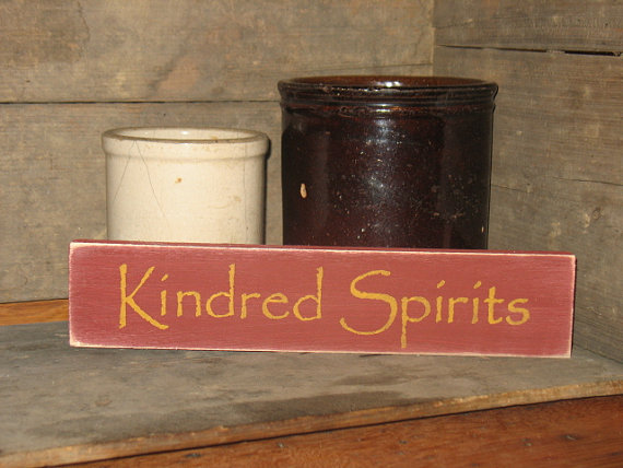 Kindred Spirits Wood Sign