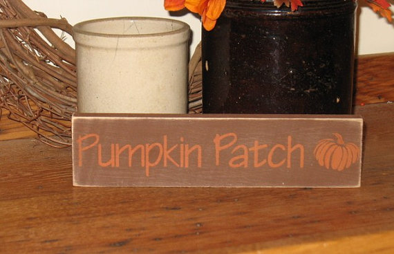 Pumpkin Patch Wood Sign-Pumpkin Patch -WOOD SIGN- Hand Painted Fall Season Halloween Country Primitive Farm Home Decor Gift