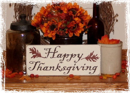 Happy Thanksgiving Wood Sign-Happy Thanksgiving -WOOD SIGN- Fall Holiday Home Decor Gift