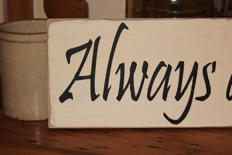 always and forever -wood sign- anniversary wedding proposal gift