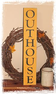 Outhouse Wood Sign