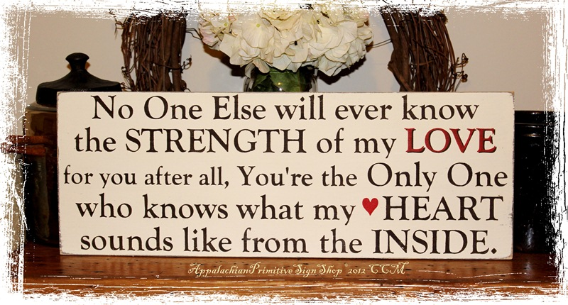 Strength of My Love -Wood Sign- Mother to Child (Daughter or Son) Gift