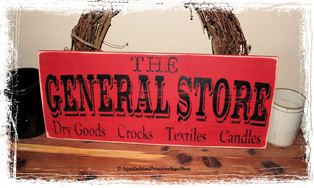 The General Store - WOOD SIGN- Primitive Antique Country Kitchen Housewarming Gift Home Decor
