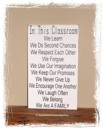 In This Classroom-Classroom Sign/Teacher Classroom Decor/ Teacher Wall Art/Teacher Appreciation/Gift for Teacher/Handcrafted