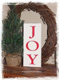 JOY - WOOD SIGN- Christmas Decoration Home Decor-JOY - WOOD SIGN- Christmas Decoration Home Decor