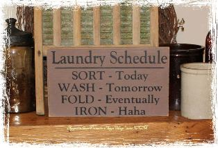 Laundry Schedule  -Wood Sign- Home Décor Laundry Room