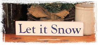 Let it Snow - WOOD SIGN- Christmas Winter Decoration Home Decor