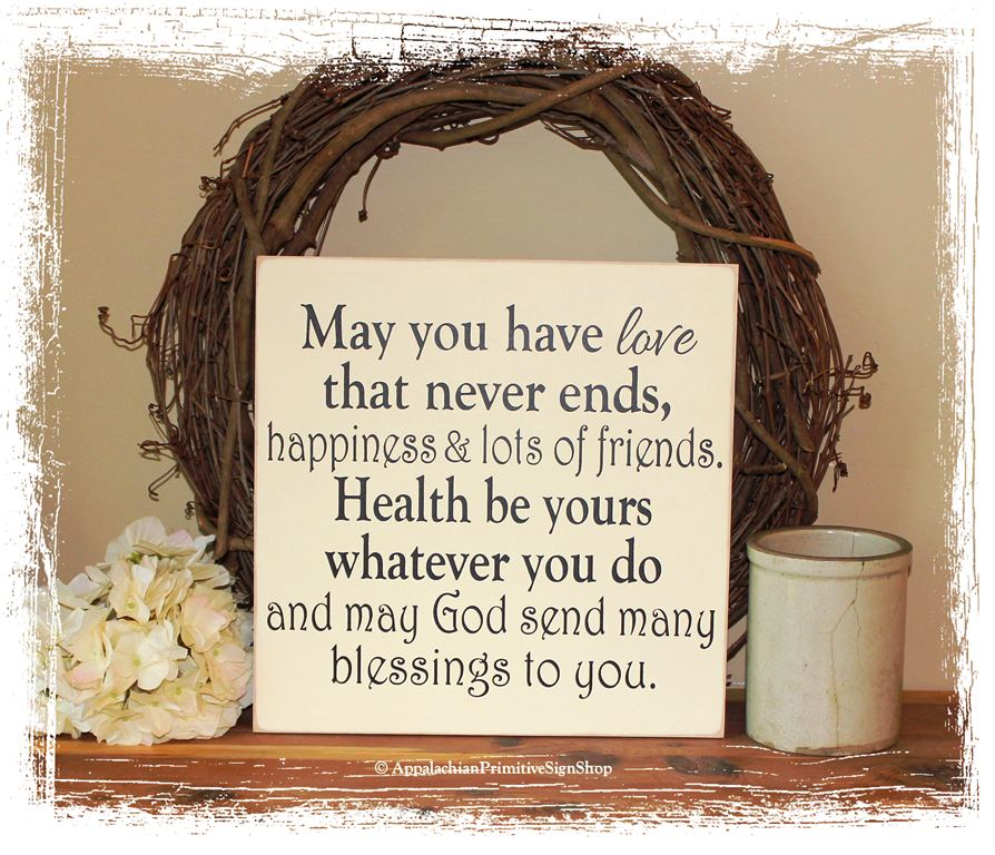Irish Wedding Blessing WOOD SIGN Wedding Home Decor Gift