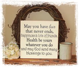 Irish Wedding Blessing WOOD SIGN Wedding Home Decor Gift Keepsake