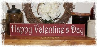 #072 Happy Valentine's Day Wood Sign Home Decor Holiday Decoration