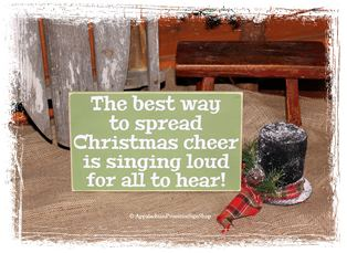 The Best Way to Spread Christmas Cheer is Singing Loud WOOD SIGN Christmas Sign Holiday Decor Seasonal Decoration Home Decor