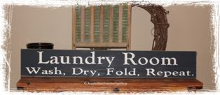 #220 Laundry Room Wash, Dry, Fold, Repeat. - Large Wood Sign- Home Decor
