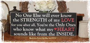 Strength of My Love Plural Quote -Wood Sign- Mother to Children Home Decor Gift Nursery