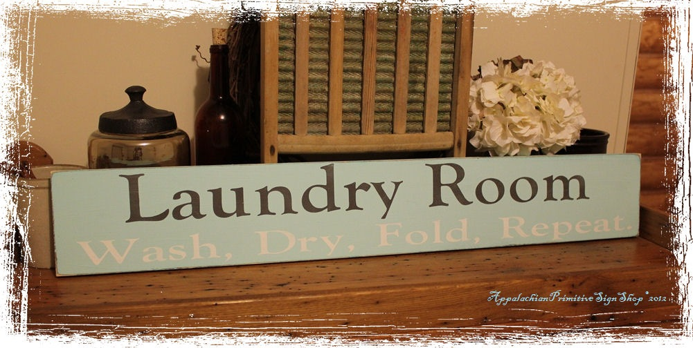 Laundry Room Wash, Dry, Fold, Repeat. - Large Wood Sign- Home Decor-Laundry Room Wash, Dry, Fold, Repeat. - Large Wood Sign- Home Decor