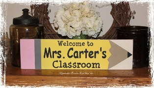 Welcome to Mr. or Mrs. Classroom -Pencil Background Wood Sign- School Personalized Teacher Classroom Gift-Welcome to Mr. or Mrs. Classroom -Pencil Background Wood Sign- School Personalized Teacher Classroom Gift